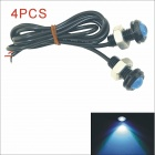 Kapeier Waterproof 6W 18MM 150lm 490nm Blue Light Auto LED Car Eagle Eye Light Lamp (12V / 4pcs)