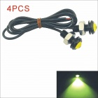 Kapeier 12V 1.5W 18mm Auto Car Eagle Eye Yellow Rear LED Light Day Time Running Lamp (4 PCS)