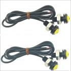Kapeier 12V 1,5 W 18mm Auto Auto- Eagle Eye Keltainen Takana LED Day Time Running Lamppu (4 PCS)