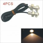 Kapeier Waterproof 1.5W 18MM 130lm 590nm Auto LED Car Eagle Eye Light Lamp - Silver (12V /4pcs)