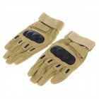 Stylish Skid-proof Warm Full Finger Motorcycle Racing Gloves - Coyote Tan  (Pair / XL)