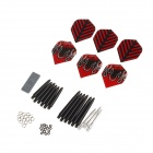 WMG11481 Professional Deluxe Dart Accessory Kit - Black + Red
