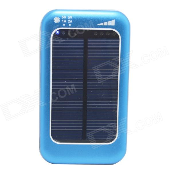 ODEM Universal Solar Powered 5V 3800mAh Li-polymer Battery Charger Power Bank - Blue altuzarra повседневные брюки