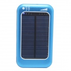 ODEM Universal Solar Powered 5V 3800mAh Li-polymer Battery Charger Power Bank - Blue