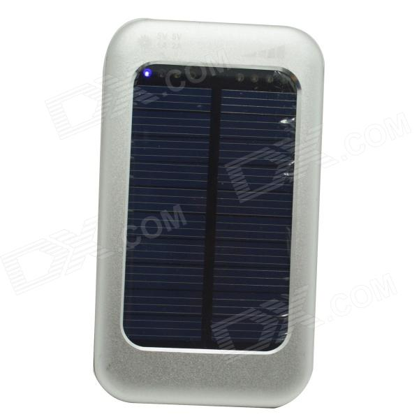 ODEM Universal Solar Powered 5V 3800mAh Li-polymer Battery Charger Power Bank - Silver