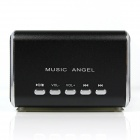 MD-05 Mini USB Rechargeable MP3 Player Speaker w/ TF Slot / LED Light - Black