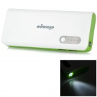 Winnovo WMP-13K 10000mAh Dual USB Output Rechargeable Li-ion Power Bank w/ Torch - White + Green