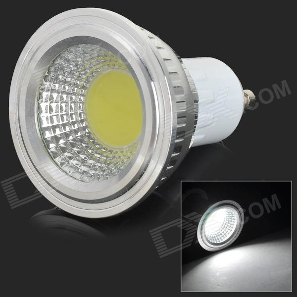 GU10 3W 250lm 7000K COB White Light Spotlight - White + Silvery Grey + Multi-Color (AC 85~265V) gu10 3w 250lm 6000k 9 5730 led white light spotlight cup white ac 100 240v