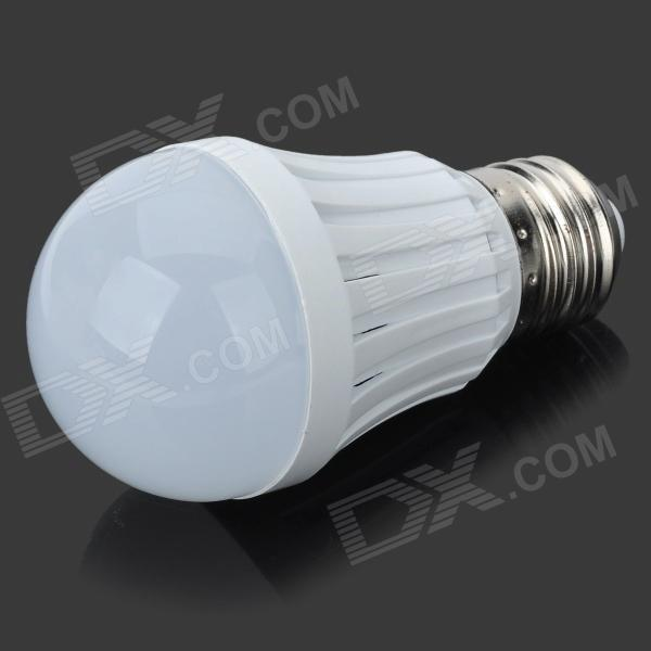 E27 3W 200lm 3500K 2835-9 SMD LED Warm White Light Bulb - White + Silvery Grey (AC 220~240V)