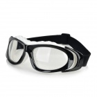 OPOLLY Plastic Frame PC Lens Sport Goggles - Black + White + Transparent