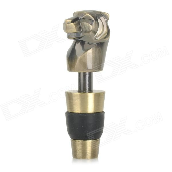 SW-WS02B Tiger Style Zinc Alloy Wine Stopper - Antique Brass
