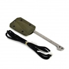 EDCGEAR Outdoor Fish Fork Scaler Remover w/ Sheath + Parachute Cord - Army Green