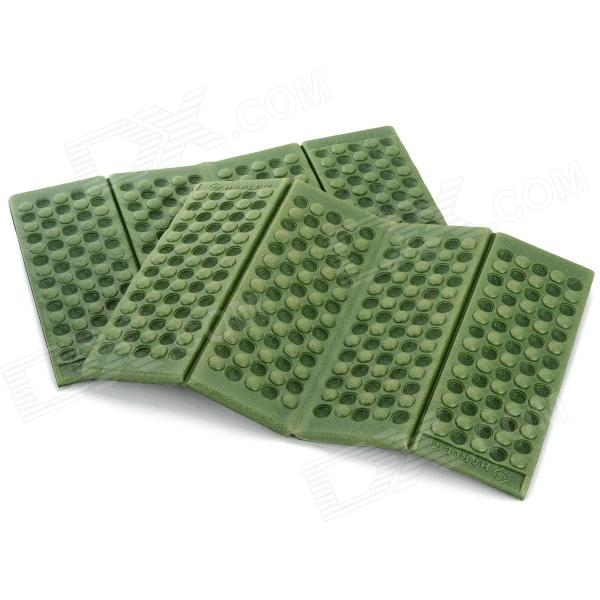 HARLEM HL-305 Foldable Outdoor Damp-proof Honeycomb Massage Foam Pad / Cushion - Deep Green (2PCS) harlem hl 305 foldable outdoor damp proof honeycomb massage xpe foam pad cushion purple 2 pcs
