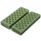 HARLEM HL-305 Foldable Outdoor Damp-proof Honeycomb Massage Foam Pad / Cushion - Deep Green (2PCS)