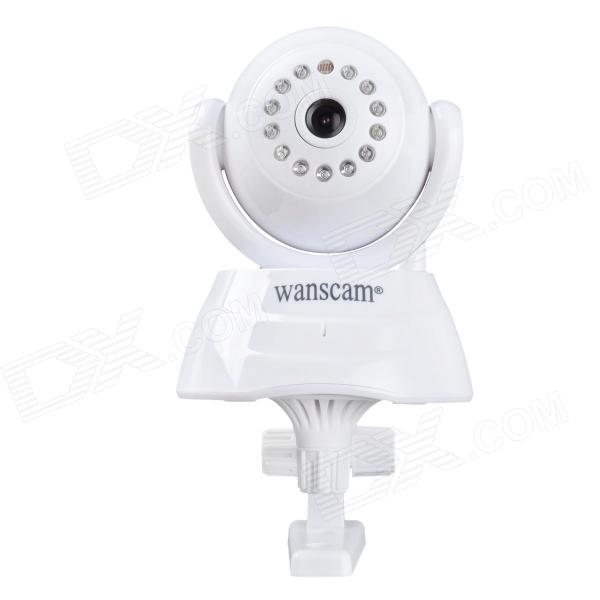 WANSCAM JW0003 1/4 CMOS 0.3MP Indoor IP Camera w/ 13-IR-LED / Wi-Fi - White (UK Plug) wanscam jw0018 1 4 cmos 0 3mp p2p indoor ip camera w 30 ir led wi fi tf white uk plug