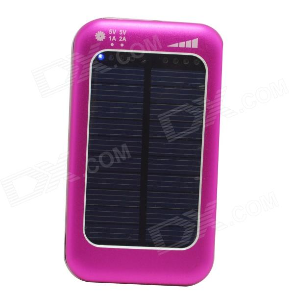 ODEM S4-5 Universal Solar Powered 5V 3800mAh Li-polymer Battery Charger Power Bank - Deep Pink solar battery powered butterfly random color