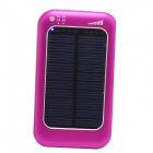 ODEM S4-5 Universal Solar Powered 5V 3800mAh Li-polymer Battery Charger Power Bank - Deep Pink