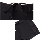 LH-7 Men's Stylish Patterned Nylon Swimming Trunks Pants - Black + Golden (L)