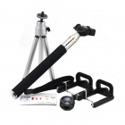 Jtron 40230005 Bluetooth Remote Shutter w/ Monopod / Tripod / Mount for IOS / Android Phones - Black