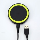 Q5 Universal Wireless Charger Set for Cellphone - Fluorescent Green + Black