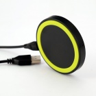 Universal Wireless Charger Set for Cellphone - Fluorescent Green + Black