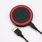 Q5 Universal Wireless Charger Set for Cellphone - Red + Black