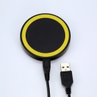Q5 Universal Wireless Charging Receiving Module for Cellphone - Yellow + Black