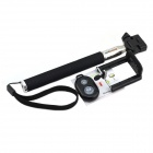 Jtron Bluetooth Remote Shutter w/ Selfie Monopod for Cellphone - Black
