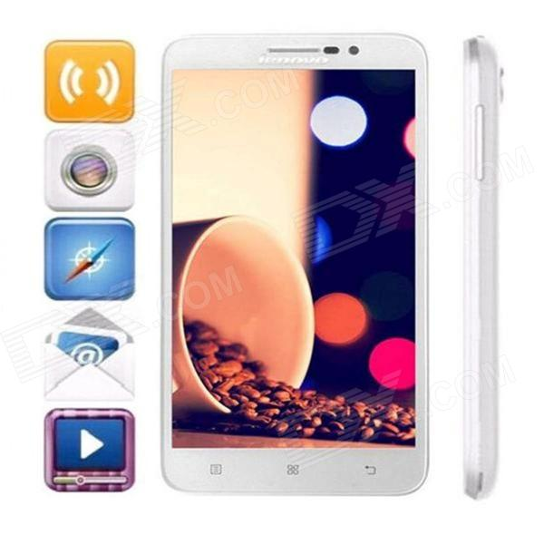 Lenovo A850+ MTK6592 Octa-Core Android 4.2.2 WCDMA Bar Phone w/ 5.5 QHD, Wi-Fi, FM, GPS - White m pai 809t mtk6582 quad core android 4 3 wcdma bar phone w 5 0 hd 4gb rom gps black