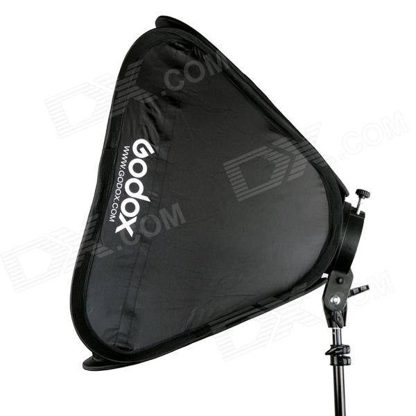 Godox S-Type Speedlite Bracket Bowens S Mount Holder + 40*40 Softbox for Studio Photography godox portable deep parabolic softbox p90l 90cm for bowens mount studio flash speedlite reflector photo studio softbox