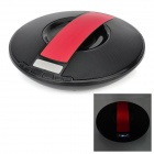 Flying Saucer Style Car Wireless Bluetooth Speaker w/ TF / U Disk / Alarm Clock - Black + Red