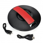 Flying Saucer Style Car Wireless Bluetooth Speaker w/ TF / USB / Alarm Clock - Black + Red