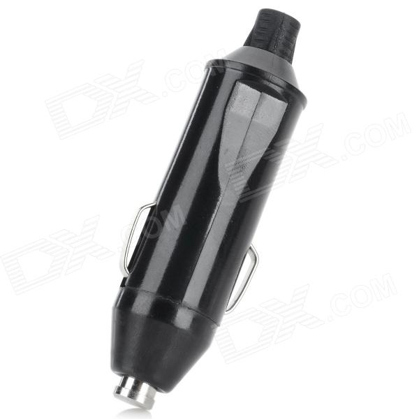 DIY High Power Car Cigarette Lighter Plug Adapter - Black (DC 12~24V / 2 PCS)
