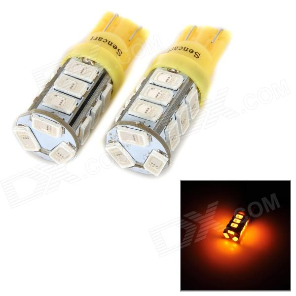 SENCART T10 3W 10lm 590nm 5730 SMD LED Yellow Light Lamp for Car / Motorcycle (DC 12~16V / 2PCS) купить