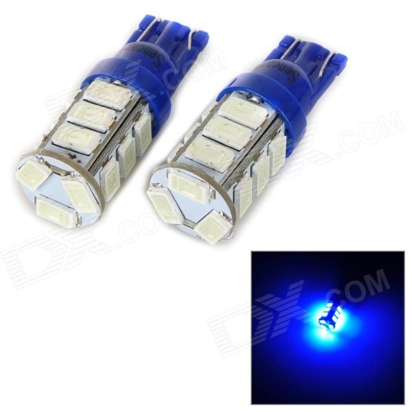 SENCART T10 4W 25lm 490nm 5730 SMD LED Blue Light Lamp for Car / Motorcycle (DC 12~16V / 2PCS) - DXLED Wedget Bulbs<br>Compatible connector types: T10 194 W5W T8 T10 T13 T15 147 152 158 159 161 168 184 192 193 194 259 280 285 447 464 501 555 558 585 655 656 657 1250 1251 1252 2450 2652 2921 2825 12256 12961 2521 2525.<br>