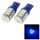 SENCART T10 4W 25lm 490nm 5730 SMD LED Blue Light Lamp for Car / Motorcycle (DC 12~16V / 2PCS)