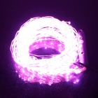 SKLED IP65 Waterproof 1.6m 350-LED Pink Light Holiday Light Stip +12V 1A US Plugss Power Adapter