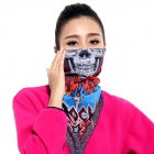 Wild Color VC1405 Outdoor Cycling V-shaped Headband / Face Mask / Neck Scarf - Red + Blue