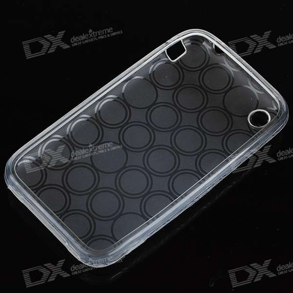 Textured Protective TPU Case for Iphone 3g (Translucent White)