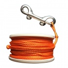 EZDIVE Plongée Finger Spool w / Double terminé Snap - Orange + blanc