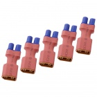 HJ XT60 hembra a macho adaptador EC3 Set - Red + Blue (5 PCS)