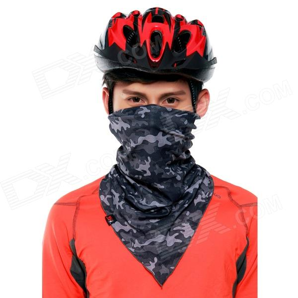 Wild Color VC1404 Outdoor Cycling V-shaped Headband / Face Mask / Neck Scarf - Black + Grey barrow tzs1 a02 yklzs1 t01 g1 4 white black silver gold acrylic water cooling plug coins can be used to twist the