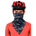 Wild Color VC1404 Outdoor Cycling V-shaped Headband / Face Mask / Neck Scarf - Black + Grey