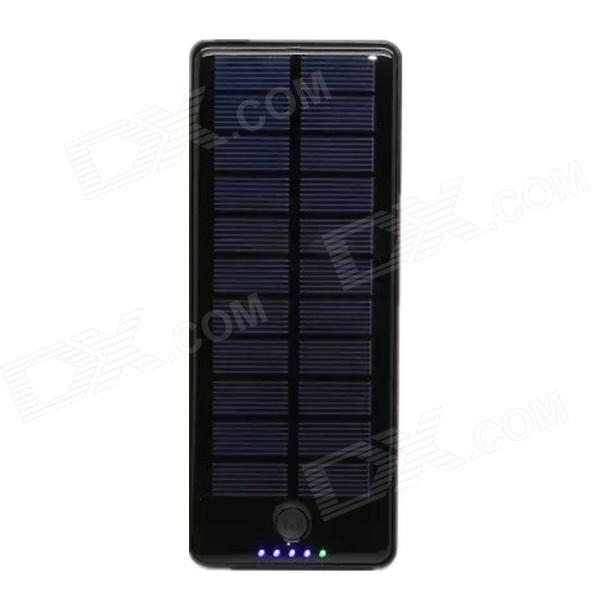 15000mAh Dual-USB Solar Powered Portable Li-polymer Battery Power Bank for IPHONE + More - Black sony cp s15 s 15000 mah