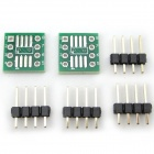 Dual-Sided SOP8/SSOP8/TSSOP8 SMD to DIP Adapter Board - Green