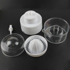 Mini PVC Electric Juicer - White + Transparent (4 x AAA)