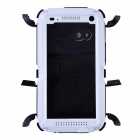 Redpepper Case Aluminum Alloy + Silicone Shockproof Case for HTC One M7 - Black + White
