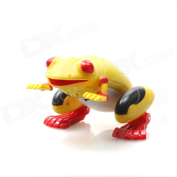 2-Channel IR Remote Control R/C Frog Toy - Yellow + Red + Black new simulation red fox toy polyethylene