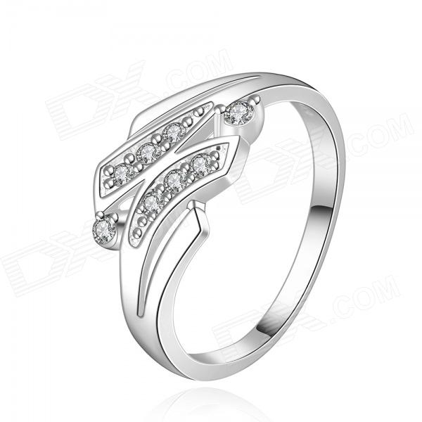 925 Silver Plating Rhinestone Women's Finger Ring
