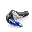 PJ-0019 PJ-0019 Horn Style Aluminum Alloy Handlebar for Mountain Bike - Black + Blue (2 PCS)